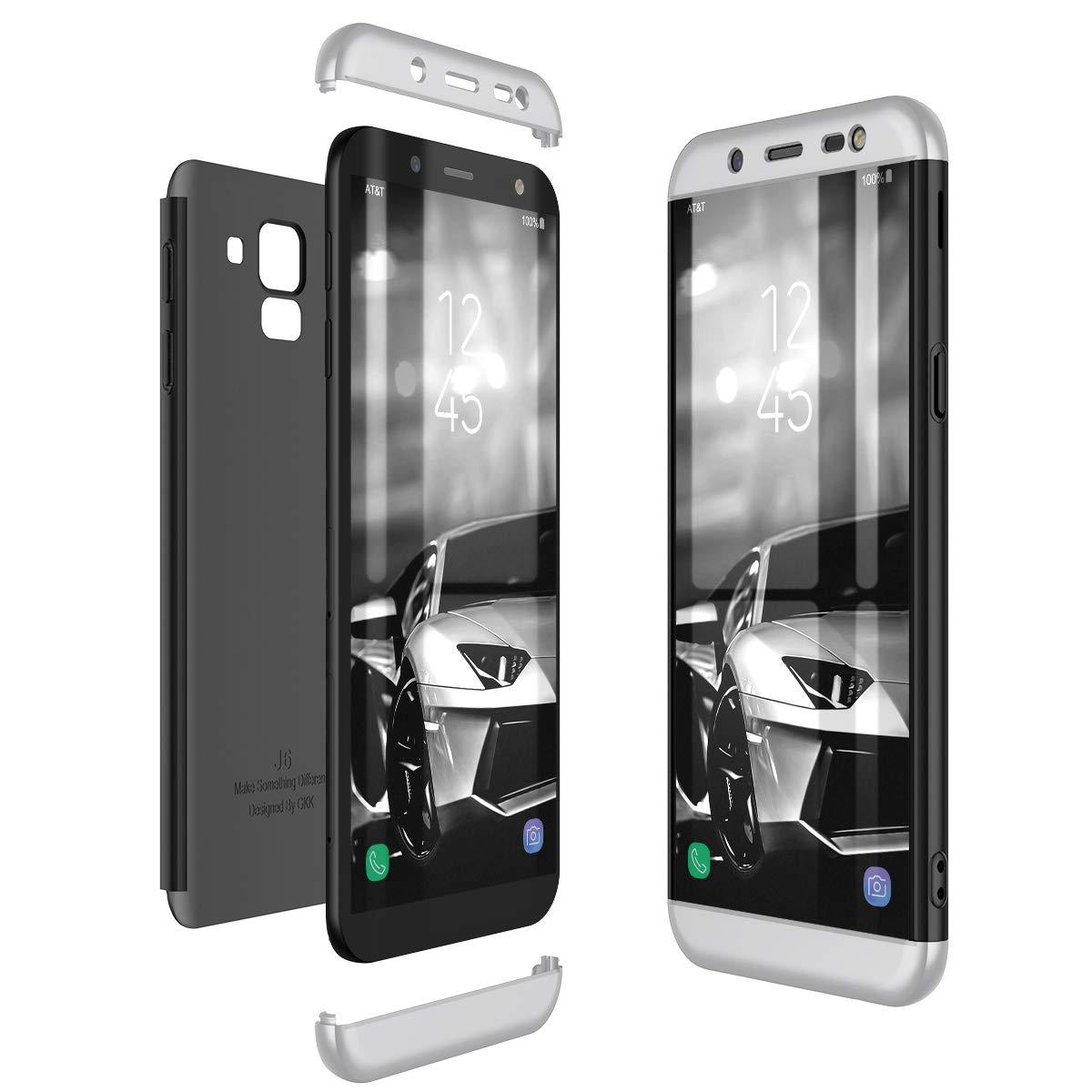 Rot CE-Link Kompatibel mit Samsung Galaxy J6 2018 H/ülle Hardcase 3 in 1 Handyh/ülle 360 Grad Schutz Ultra D/ünn Slim Hard Hartschale Grad Full Body Case Cover Hart PC Bumper