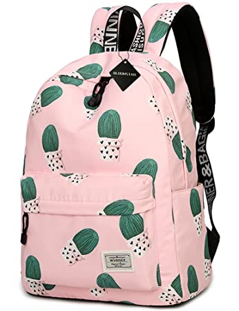 School Bookbag For Girls Cute Cactus Water Resistant Laptop Backpack College Bags Women Travel Daypack