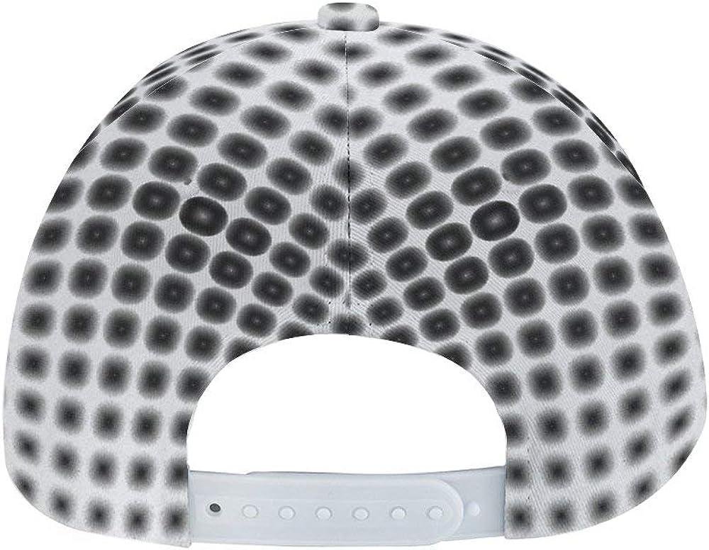 Dongi Optical Illusion Unisex Full-Print Flat Rubber Ball Cap can Adjust Hip-hop Style