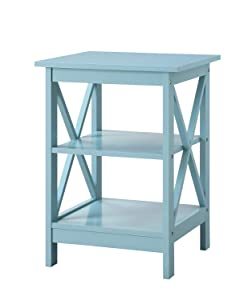 Convenience Concepts 203085SF Oxford End Table, Sea Foam