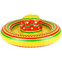 Rimi Hanger Adults Inflatable Mexican Sombrero Hat 53cm Childrens Hawaiian Party Accessories One Size (Pack of 1)