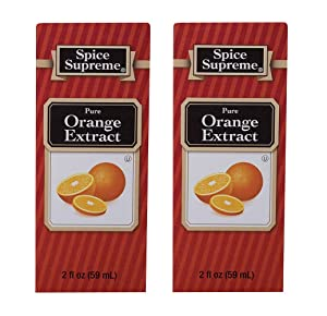 Spice Supreme Pure Orange Extract 2oz (Pack of 2)
