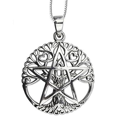 Darkdragon Anhänger Baum Des Lebens Mit Pentagramm Keltischer