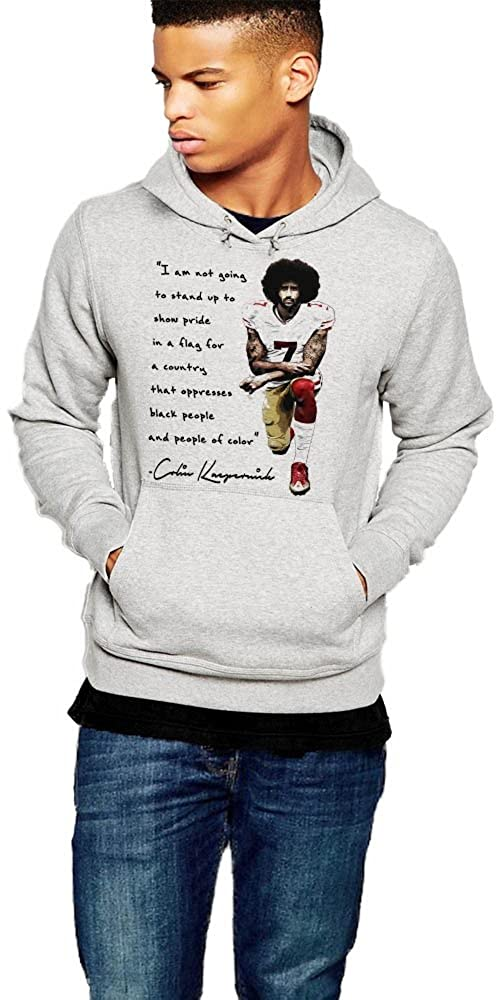 ffb6de06e35 Amazon.com  Colin Kaepernick Hoodie Black Panther Protest Pullover I Stand  With Kap  Clothing