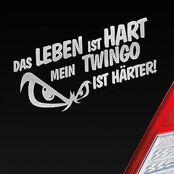 Auto Aufkleber In Deiner Wunschfarbe Das Leben Ist Hart Mein Ist Härter Für Twingo Fans 19x9 5 Cm Sticker Folie Auto
