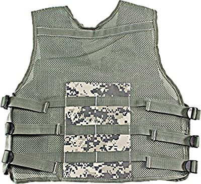 Kids-Army Explorer Camo Combat Vest Black&Jungle camo&ACU&Digital Desert&Multicamo Vest Durable Breathable Tactical Vest 9pockets Fits Ages