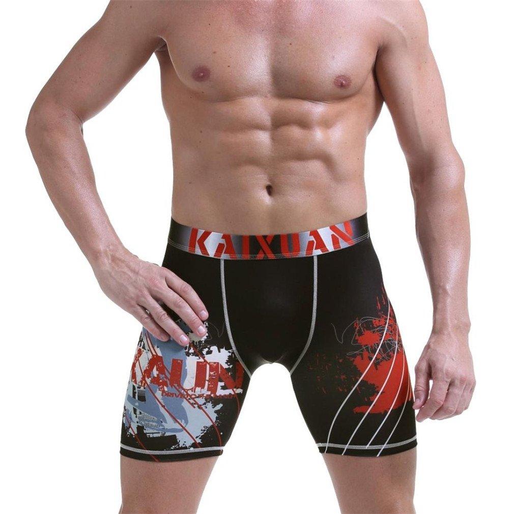 ♬ GongzhuMM Homme Maillot de Bains Longue Séchage Rapide Imprimé Shorts Plage Surf Boxer Trunks Shorts Pantalon Court de Sport Plage Grande Taille