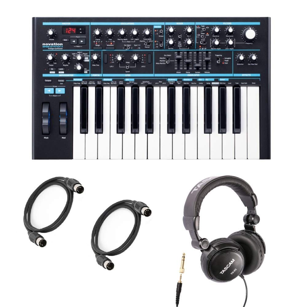 Novation Bass Station II with Headphones and 2 Midi Cables