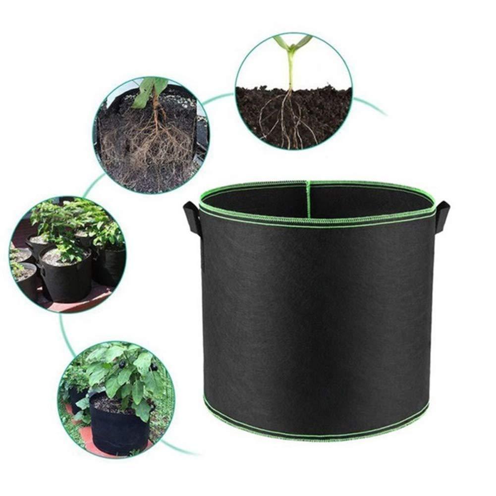 15cm Man9Han1Qxi Borsa per piantare Tessuto Non Tessuto Maniglia Rotonda Vaso di Fiori Strumento di Giardinaggio Contenitore Crescere Sacchetto per pianta vegetale Fiore 18