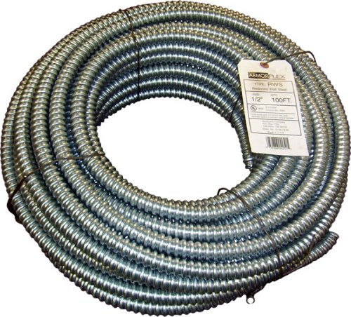 Southwire 55081802 1/2-Inch-by-100-Foot Reduced Wall Flexible Galvanized Conduit