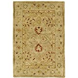 Kitchen Rugs At Wayfair Safavieh Antiquities Collection AT822B Handmade Traditional Oriental Brown and Beige Wool Area Rug (2' x 3')