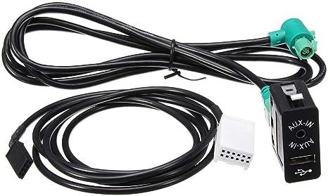 Katurn Auto Usb Buchse Schalter Stereo Audio Kabel Kabelbaum Aux In Kit Für Bmw E60 E61 E63 E64 E87 E90 E70 F25 Küche Haushalt