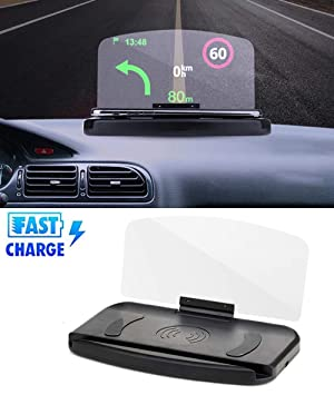 ZDGM 10W Cargador de Coche Inalámbrico Head-Up Display GPS ...