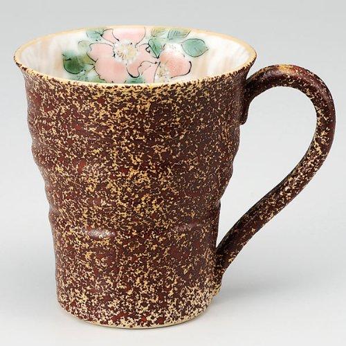 KUTANI YAKI(ware) Coffee Mug Flower by Kutani
