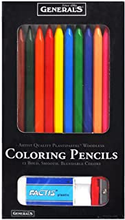 product image for Generals Artist Quality Plastipastel Woodless Coloring Pencils