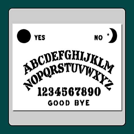 graphic about Printable Ouija Boards referred to as 8 X 10 Ouija Spirit Board Stencil Template Moon/Star/Sunlight/Supernatural/Halloween/Ghost
