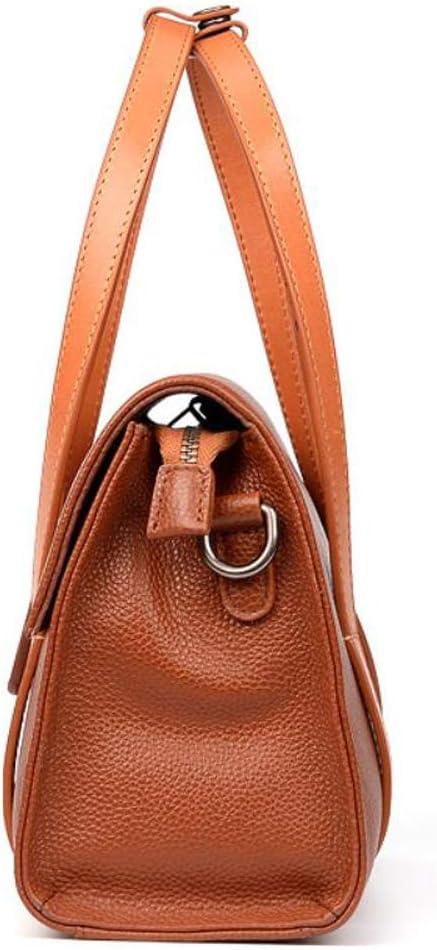 ALLHM Handbag Ladies Fashion Shoulder Bag Large Capacity Leather Travel Bag Multi-Pocket Capacity Color : Brown, Size : OneSize