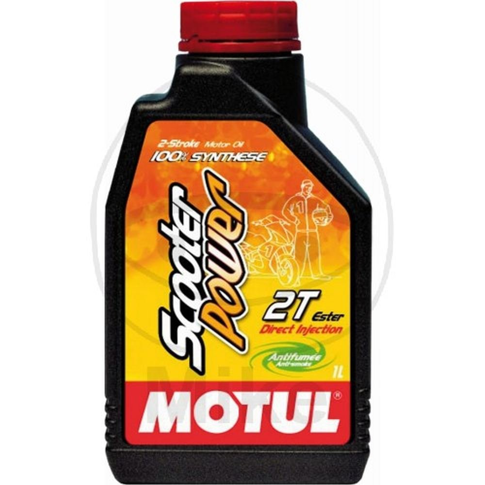 PACK OF 4 X 1 LITER (4 liter total)MOTUL SCOOTER POWER 100% SYNTHESE OIL / BOITE DE 4 X 1 LITRE (4 litres au total) MOTUL SCOOTER POWER 100% SYNTHETIQUE