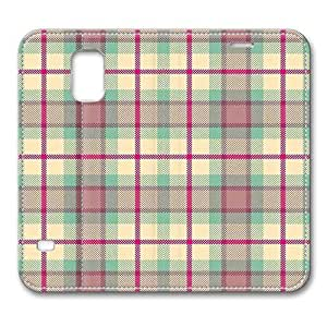Brain114 Fashion Style Case Design Flip Folio PU Leather Cover Standup Cover Case with Classical Plaid Pattern Skin for Samsung Galaxy S5 I9600 hjbrhga1544