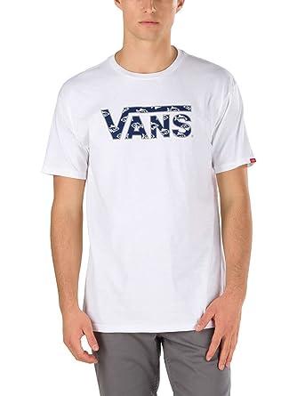 e1e214f46 T-Shirt Men Vans Classic Logo Fill T-Shirt: Amazon.co.uk: Clothing