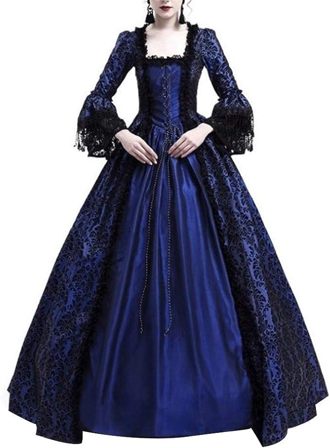 Amazon.com: dwqPA#Pi vestido de baile medieval renacentista ...