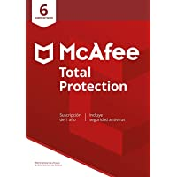 McAfee Total Protection 2020, 6 Dispositivos, 1 Año, Software Antivirus, Seguridad de Internet, Manager de Contraseñas…