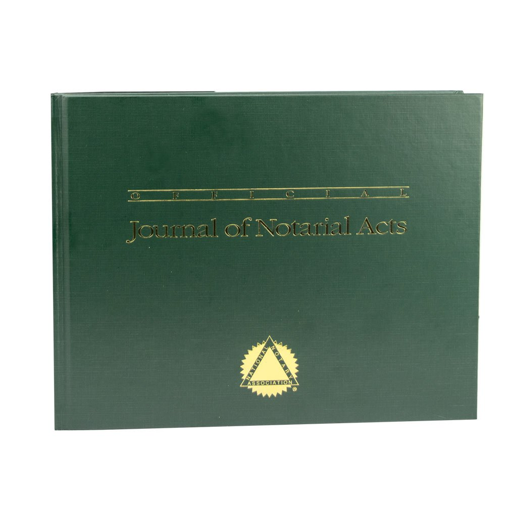 Official Journal of Notarial Acts (Hardcover green)