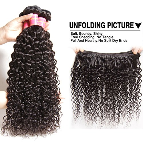 ALI JULIA Wholesale 3-Pack Malaysian Virgin Curly Hair Weave Real Human Hair Weft Extensions Cheap Bundle Hair Products Natural Color 95-100g/pc (16 18 20 inches) by Yilian (Image #4)