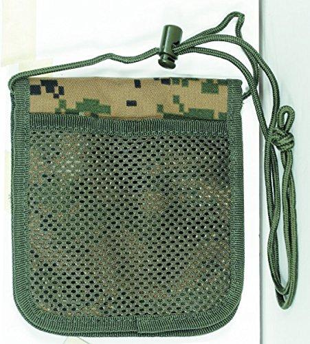 VooDoo Tactical 25-0026049000 Passport Holder Neck Wallet, Green Digital
