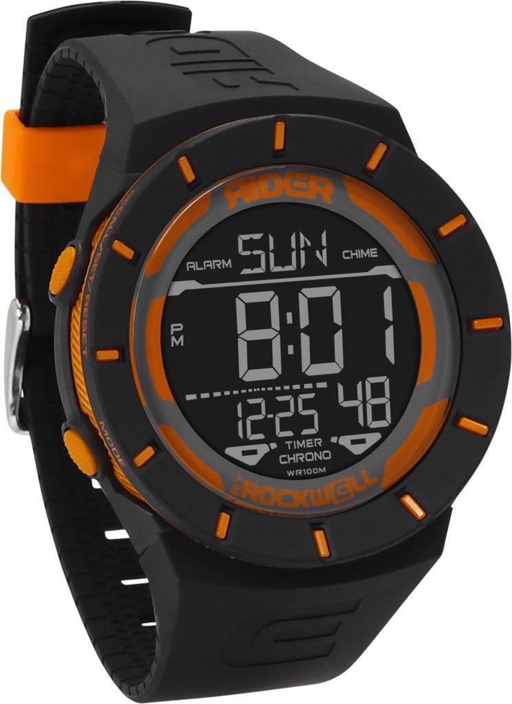 Rockwell Time RCL-BLK-ORG Coliseum Digital Dial Watch, Orange