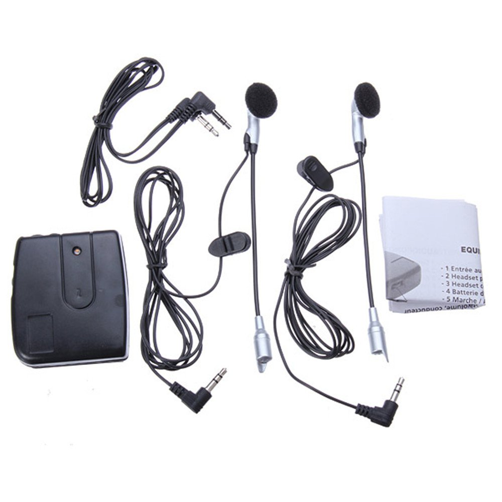 IZTOR Motorbike Motorcycle Helmet Intercom interphone Headset Earphone Wired 2-Way MP3 black