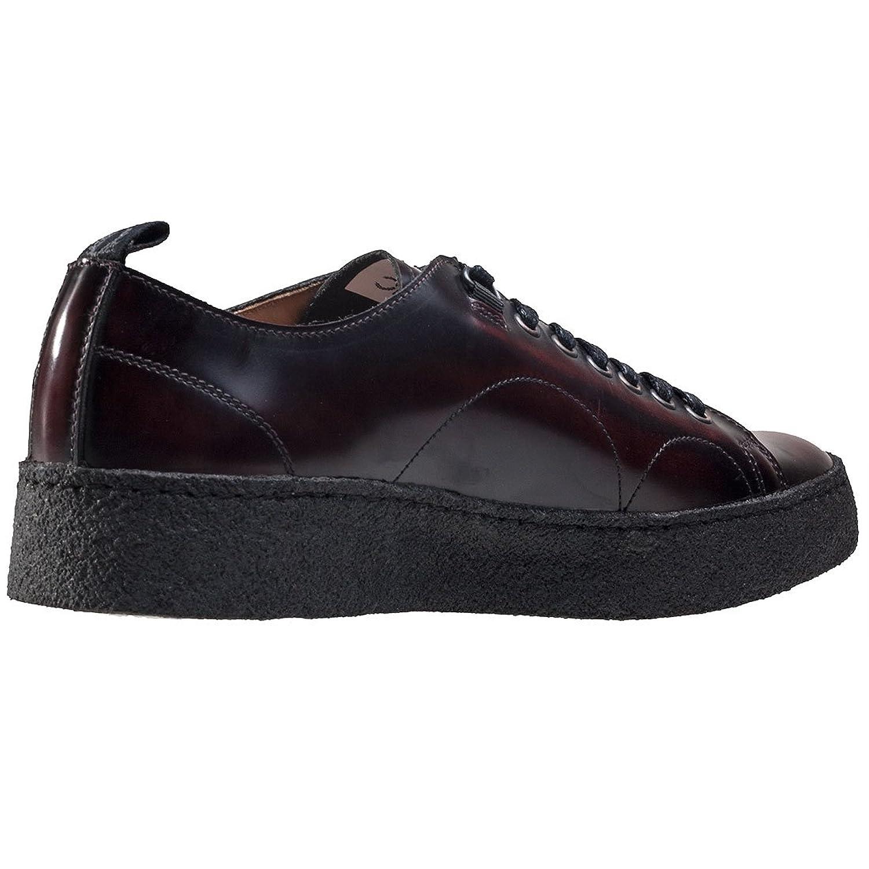 Fred Perry X George Cox Premium Creeper - Zapatillas de Piel para hombre, color rojo, talla 8 UK