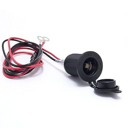 Amazon.com: Ginsco 12V Cigarette Lighter Socket Power Outlet ... on marine electrical fuse panel, ranger boat fuse panel, boat glass fuse panel, boat wiring fuse box diagrams, radio fuse panel,