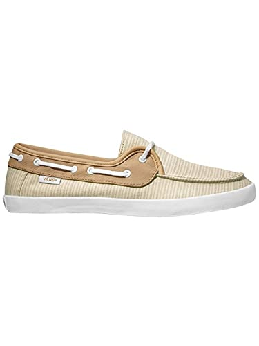 b7979cc7fb Amazon.com | Vans Womens Chauffette Natural Stripes Comfort Boat Shoes  Brown 5.5 | Shoes