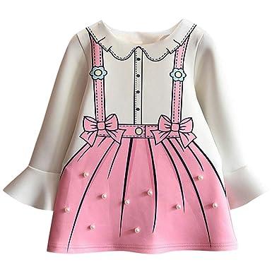 ASHOP Vestidos niña/ Vestido Perla Decorado Vestido de Manga angosta con Lazo/Falda Tutu/en Oferta/1-5 Años: Amazon.es: Ropa y accesorios