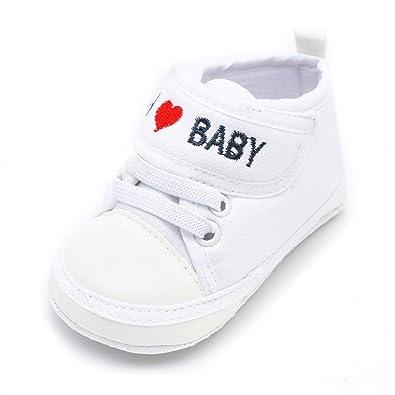 30f04b032c45c Chaussures Bébé Binggong Nouveau-né bébé Bambin garçons Filles Lettre Coeur  Anti-dérapant Semelle