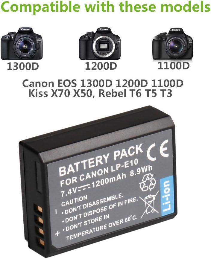 Canon EOS 1300d// eos 1200d Bateria lp-e10 batería para Canon EOS 1100d
