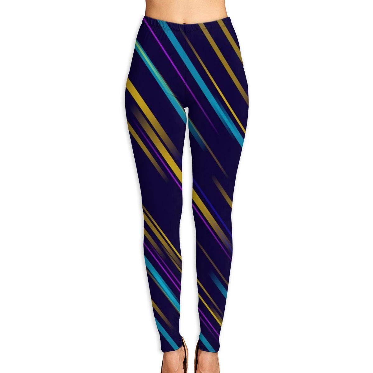 Women/'s Black Yoga Jogging Birthday Fashion Workout Pants Aquarius Gold Horoscope Leggings For Women