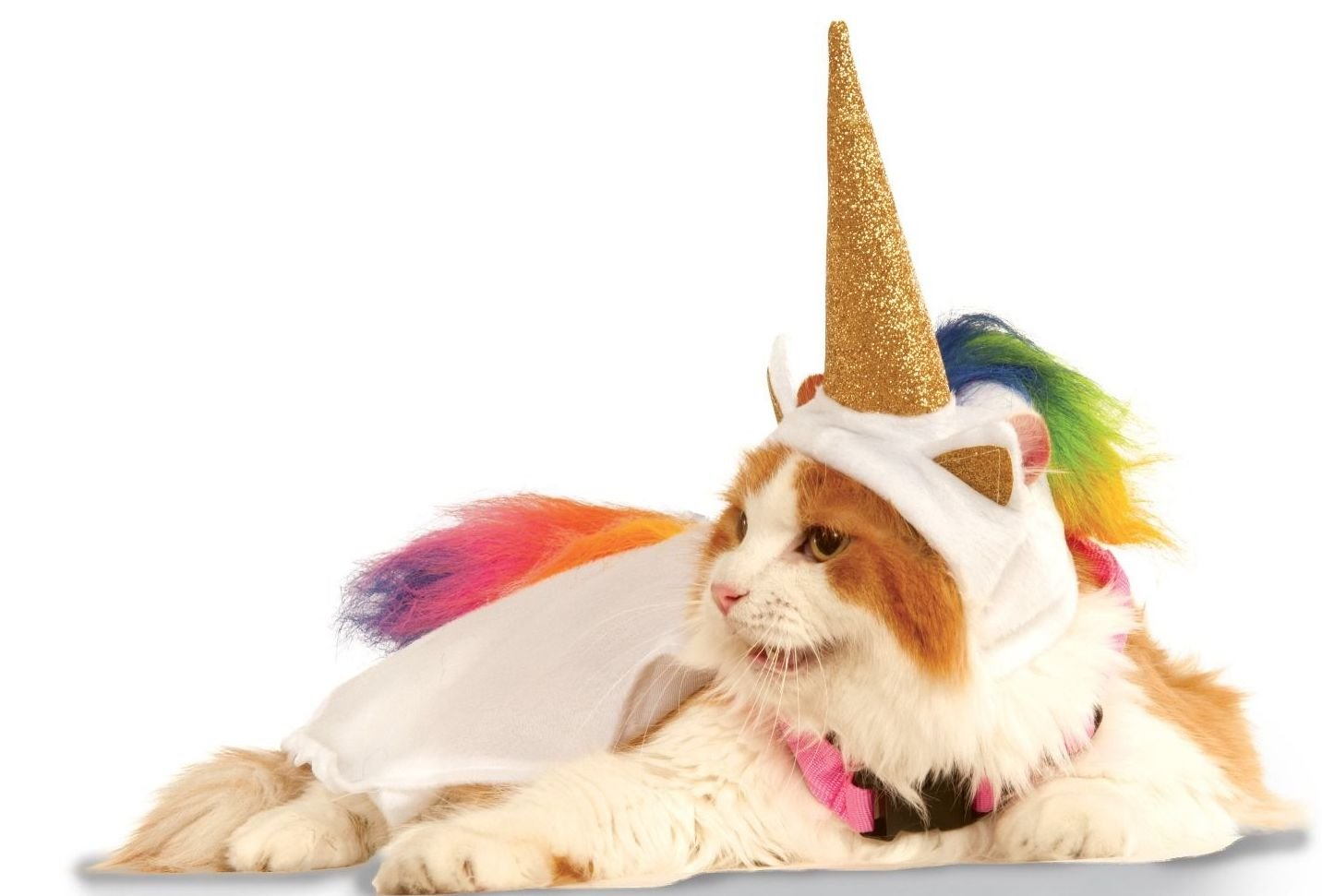 Rubie's Unicorn Cape with Hood and Light-Up Collar Pet Costume, Small