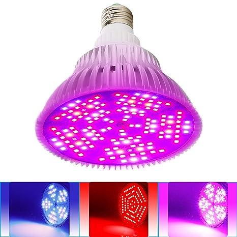 MILYN Bombilla LED de crecimiento regulable, 100 W, espectro completo, veg y flores
