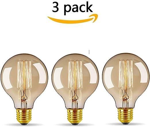 stile antico lampadina classica con filamento a gabbia di scoiattolo confezione da 1 lampadina Edison ST64 E27 220 V-240 V stile vintage 60 W WEDNA dimmerabile