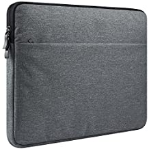 "CCPK 14-15 Inch Laptop Sleeve for 15.4-inch MacBook Sleeve Case Cover Protective Bag Pro Retina Touch Bar compatible with 15-inch Surface Dell Samsung Sony Acer HP 14"" Notebook, Black Gray"