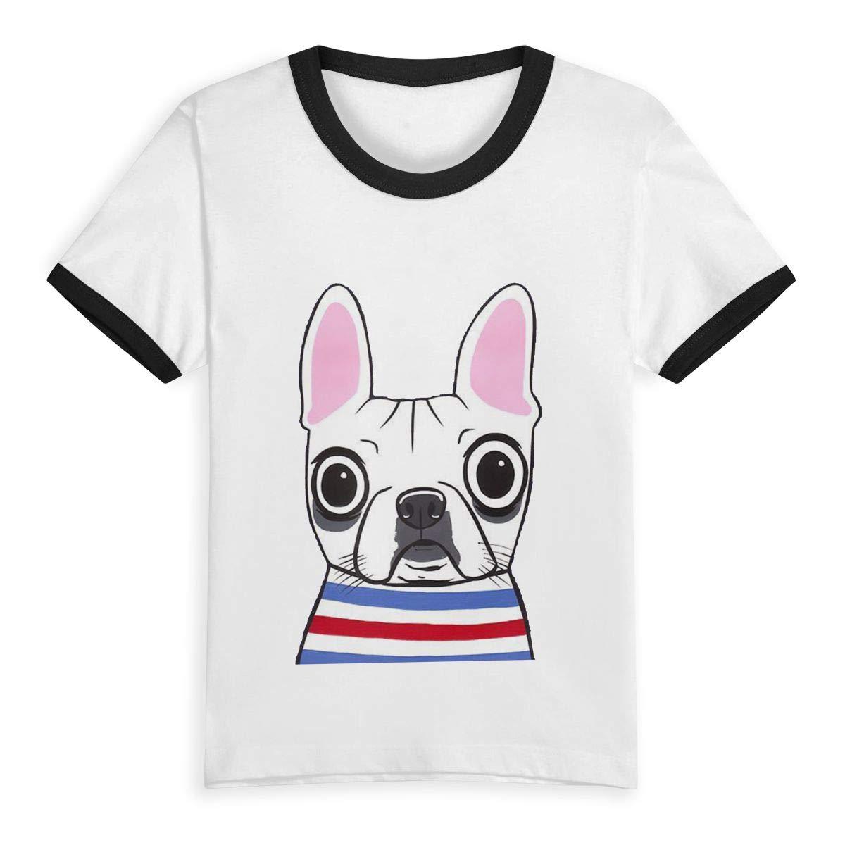 Gomop Cute Cartoon Dog Summer Basic Kids Short Sleeve Tee Short T Shirts