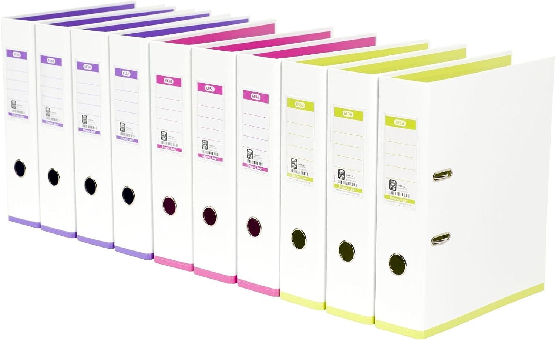 Elba - Archivador Palanca Blanco/Surtido Mycolor Paquete 10 Archivadores: Amazon.es: Oficina y papelería