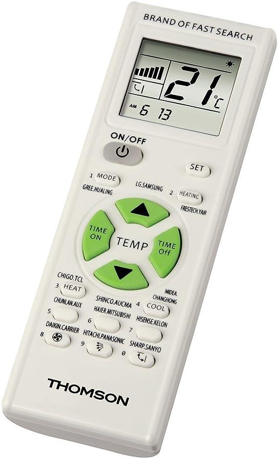 Thomson ROC1205 Mando Universal Aire Acondicionado: Amazon.es: Electrónica