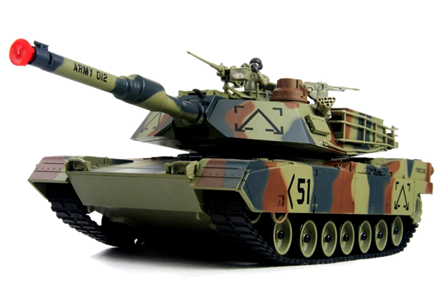 M1A2 Abrams USA Battle Tank RC 16'' Airsoft Military Vechile with Sound (Color May Vary)