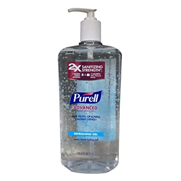 amazon com purell pump bottel 1 lite size 33 8z purell pump bottel