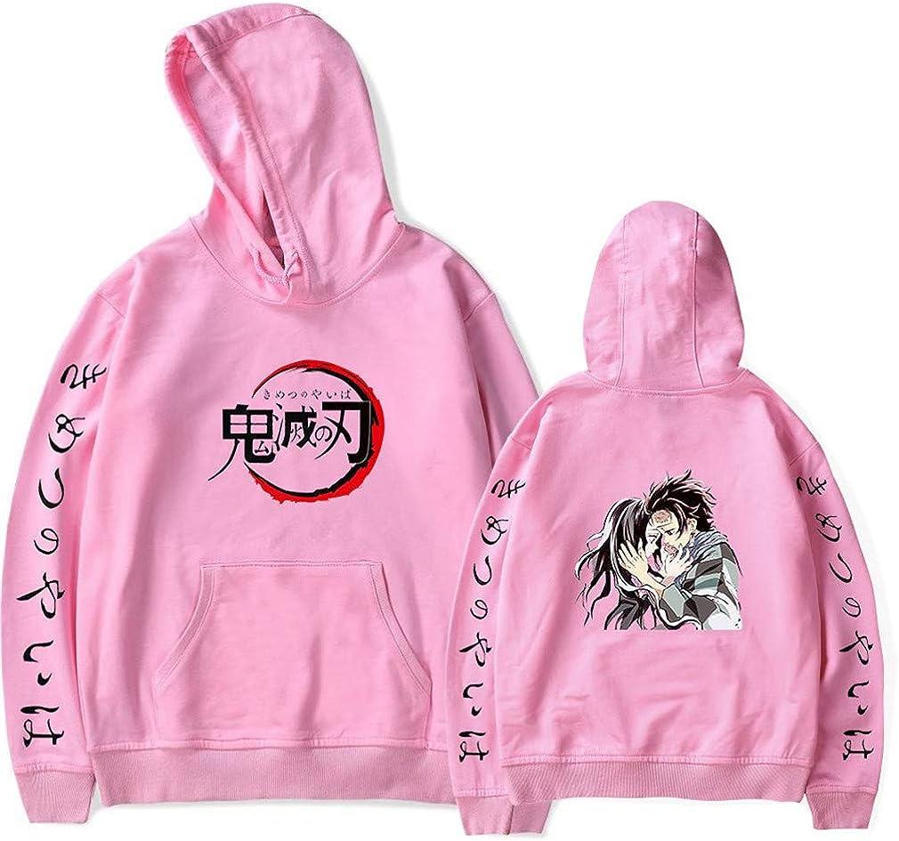 AMOMA Comics Anime Kimetsu no Yaiba Sweat /à Capuche Unisexe Demon Slayer Tanjirou Nezuko Imprim/é Num/érique Sweatshirt