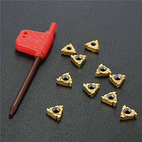 Hitommy 10Pcs 11Ir A60 Carbide Insert For Turning Tool Holder Boring Bar