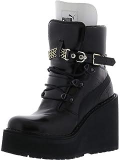 a1744c7a4e6 PUMA Women s Sb Wedge Rihanna Mid-Calf Leather Fashion Sneaker